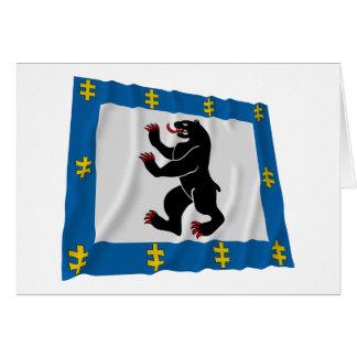 Siauliai County Waving Flag Card