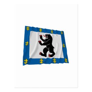 Siauliai County Waving Flag Postcards