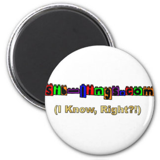 Sib-Lings.com Logo 2 Inch Round Magnet