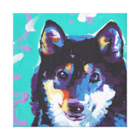 Siba Inu Pop Art on Stretched Canvas