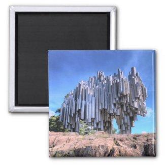 Sibelius Monument, Helsinki, Finland magnet