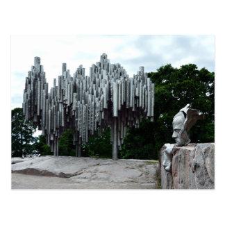 Sibelius Monument, Helsinki Finland Postcard
