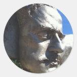 Sibelius's Head Round Stickers