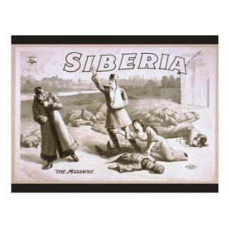 Siberia, 'The Massacre' Vintage Theater Postcard
