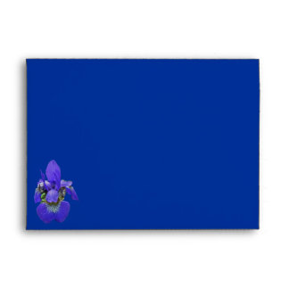 Siberian Blue Iris Envelope