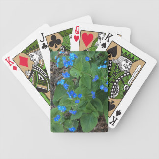 Siberian Bugloss – Blue and Green - Bicycle Playing Cards