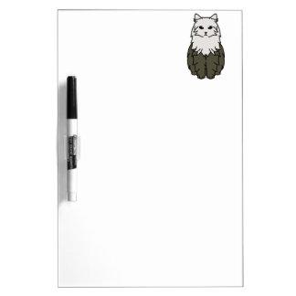 Siberian Cat Cartoon Dry-Erase Board