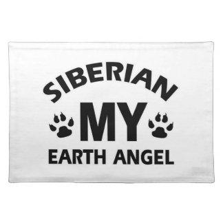 SIBERIAN CAT DESIGN CLOTH PLACEMAT