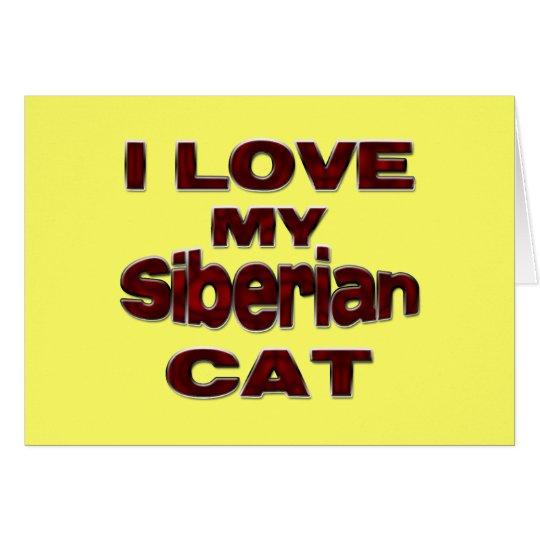 Siberian Cat drk Card