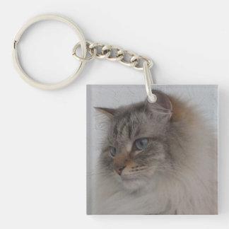 Siberian Cat Key Ring Chain