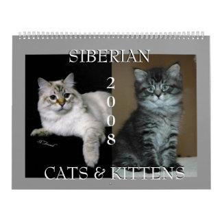 Siberian Cats Calendar 2008