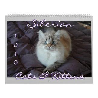 Siberian Cats & Kittens 2010 Calendar B