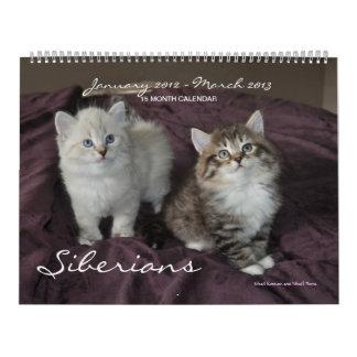 Siberian Cats Kittens 2012 - 2013 Calendar