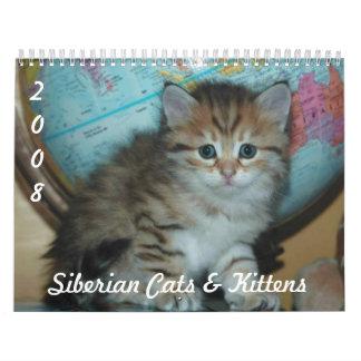 Siberian CATS & KITTENS CAL2008 Calendar