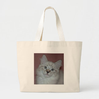Siberian Colorpoint Kitten on products Jumbo Tote Bag