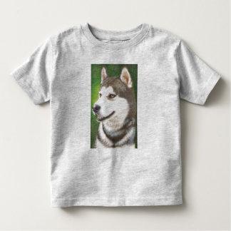 Siberian Huskey Dog Art Toddler Clothing Toddler T-shirt