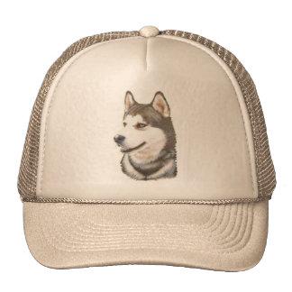 Siberian Huskey Dog Cap Trucker Hat