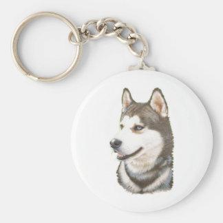 Siberian Huskey Dog Keychain