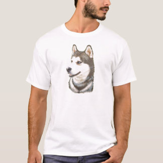 Siberian Huskey Dog T-Shirt