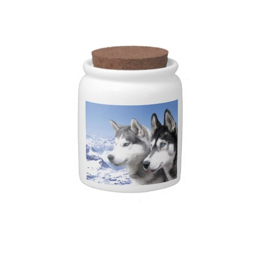 Siberian Huskies Candy Dishes