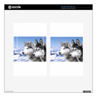 Siberian Huskies Kindle Fire Skins