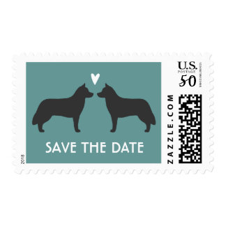 Siberian Huskies Wedding Save the Date Postage