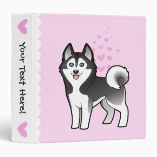 Siberian Husky / Alaskan Malamute Love 3 Ring Binder