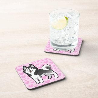 Siberian Husky / Alaskan Malamute Love Beverage Coaster