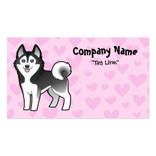 Siberian Husky / Alaskan Malamute Love Business Card Templates
