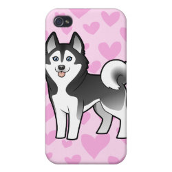 Siberian Husky / Alaskan Malamute Love iPhone 4/4S Cover