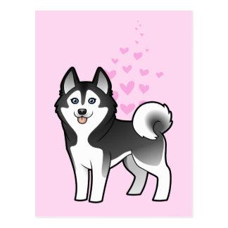 Siberian Husky / Alaskan Malamute Love Postcard