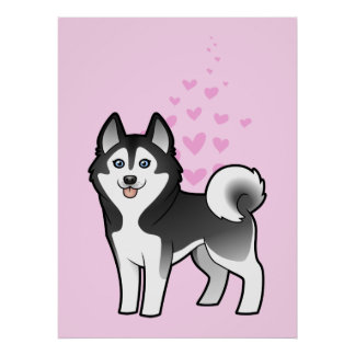 Siberian Husky / Alaskan Malamute Love Poster