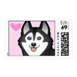 Siberian Husky / Alaskan Malamute Love Stamps