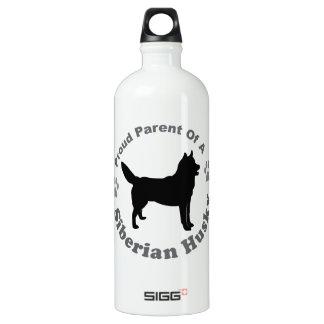 Siberian Husky Aluminum Water Bottle