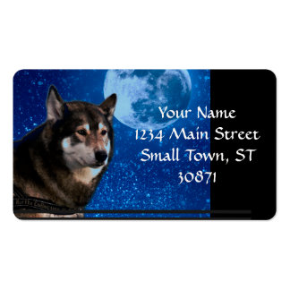 Siberian husky and the Blue Moon Double-Sided Standard Business Cards (Pack Of 100)