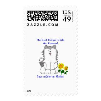 Siberian Husky Best Things In Life Postage
