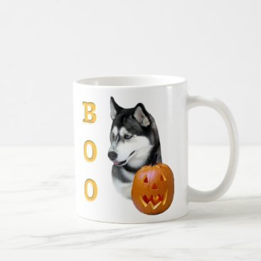 Halloween Themed Siberian Husky (black) Boo Coffee Mug