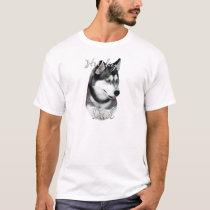 Siberian Husky (blk) Dad 2 T-Shirt