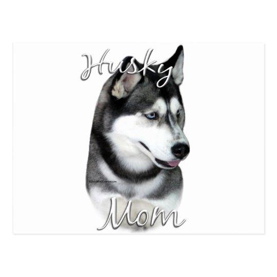 Siberian Husky (blk) Mom 2 Postcard