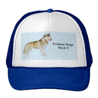 Siberian Husky - Blue w/ White Diamond Design Trucker Hat