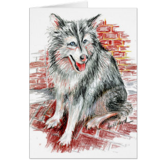 Siberian Husky Cards and Stickers