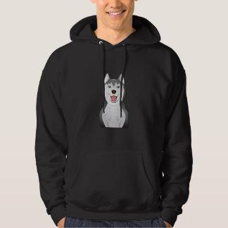 Siberian Husky Cartoon Hoodie