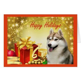 Siberian Husky Christmas Card Gifts