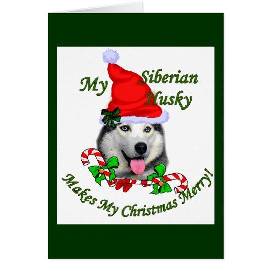 Siberian Husky Christmas Gifts Card