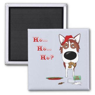Siberian Husky Christmas Refrigerator Magnet