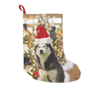 Siberian Husky Christmas Tree Hat Small Christmas Stocking