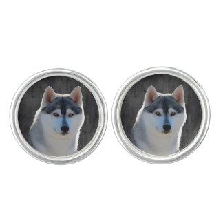 Siberian Husky Cufflinks