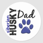 Siberian Husky Dad 2 Classic Round Sticker