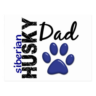 Siberian Husky Dad 2 Postcard