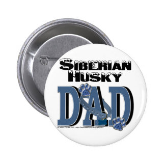 Siberian Husky DAD Buttons